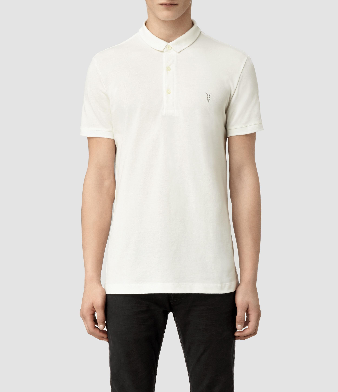 Allsaints Sandringham Polo In White For Men Lyst