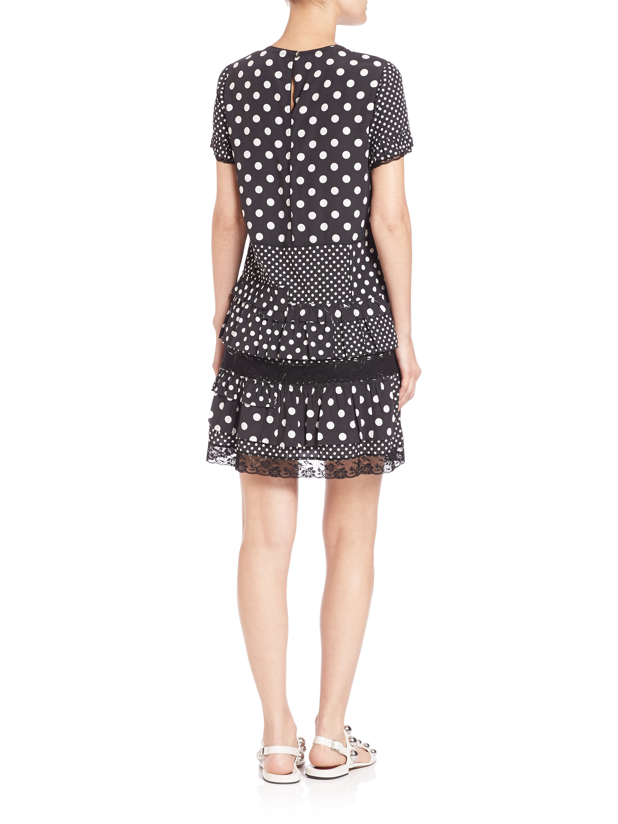 Free Shipping Shop Offer Marc Jacobs lace-trim polka dots dress Pick A Best Cheap Get To Buy zLjSSk