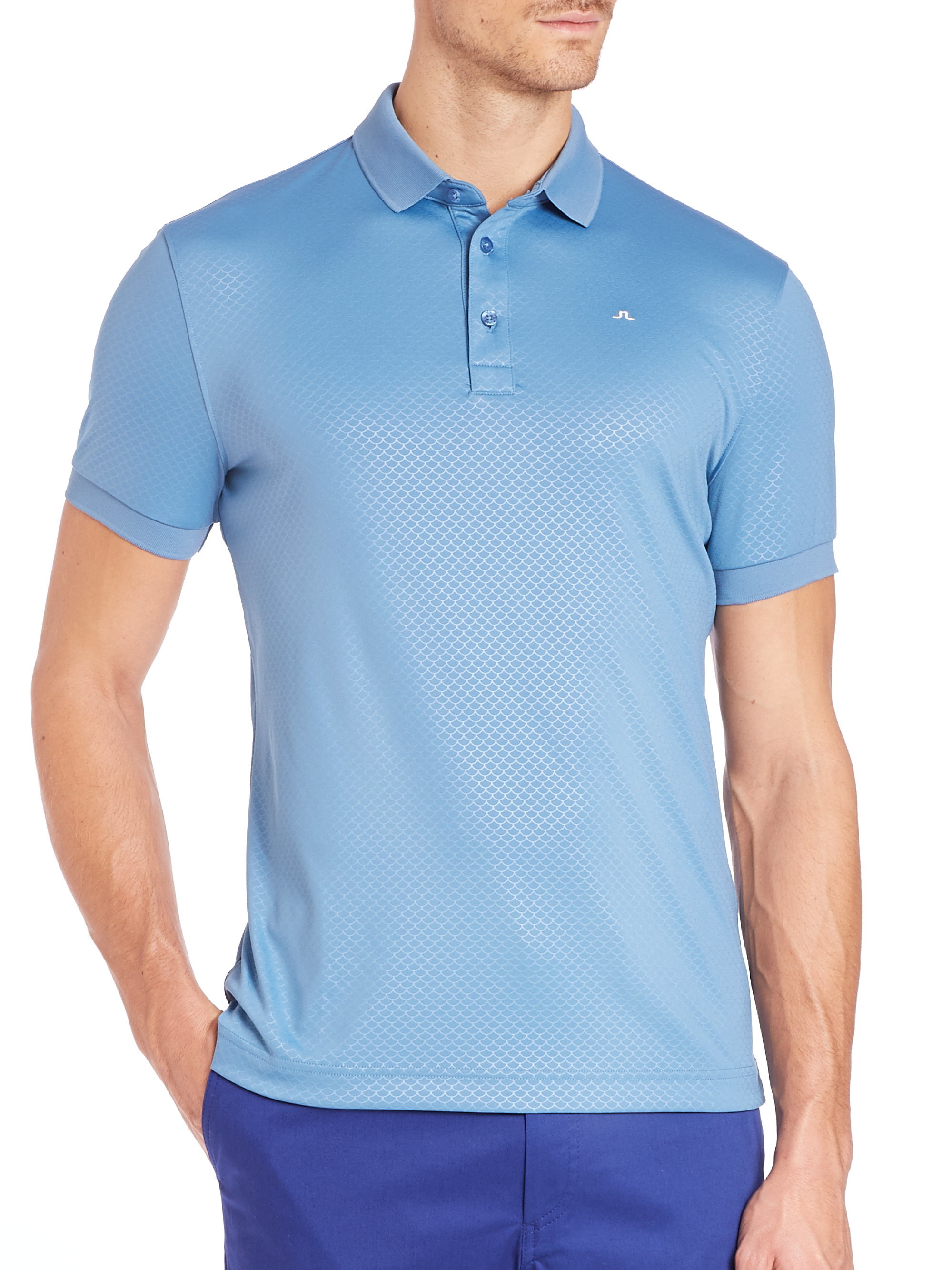57c008b1 J.Lindeberg Slim Tx Jersey Polo Shirt in Blue for Men - Lyst