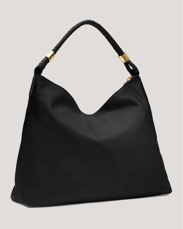 lyst michael kors collection skorpios top zip shoulder bag in black. Black Bedroom Furniture Sets. Home Design Ideas