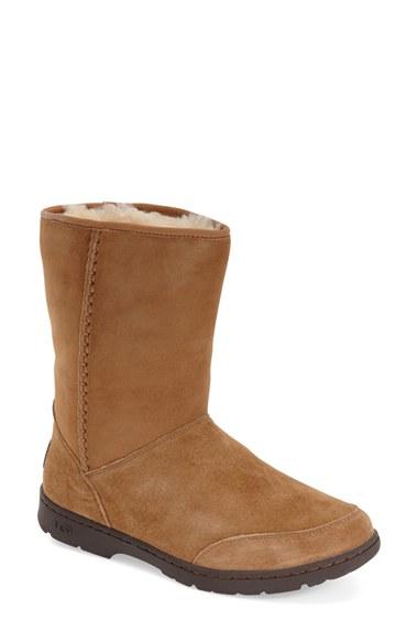 ugg ugg michaela waterproof suede boot in brown save 1