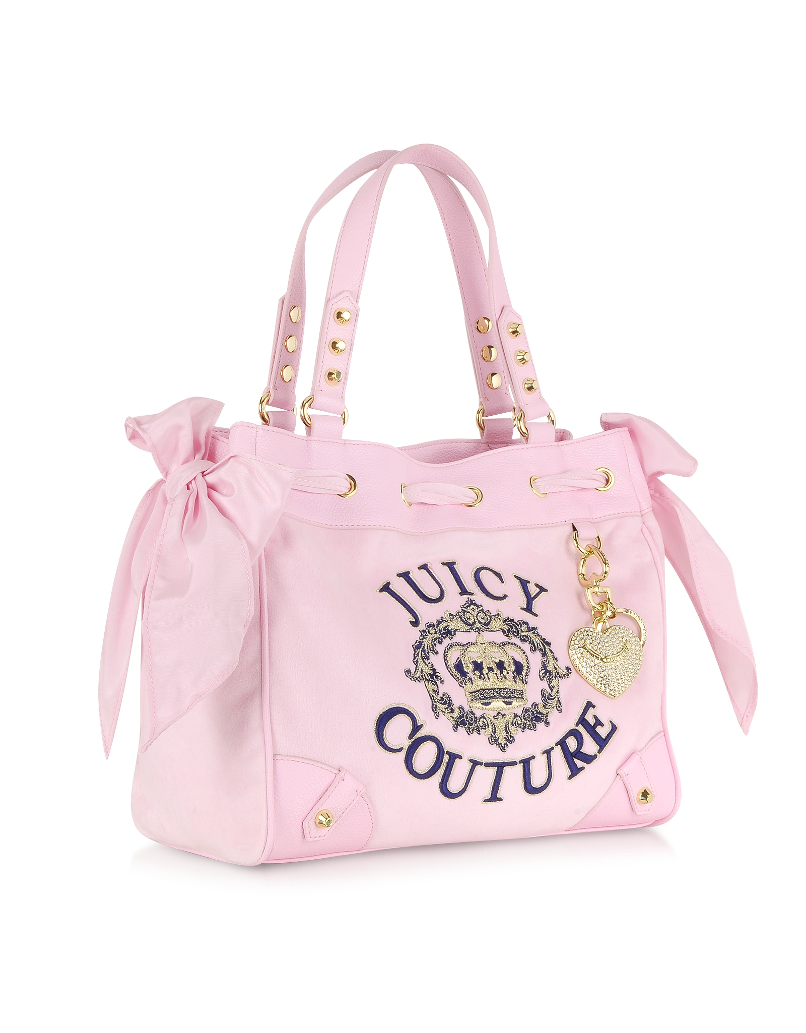 Lyst Juicy Couture Crown Velour Daydreamer Tote In Pink. Juicy couture ring  bling madge handbag in pink 00290 ... 7b7ec7a227356