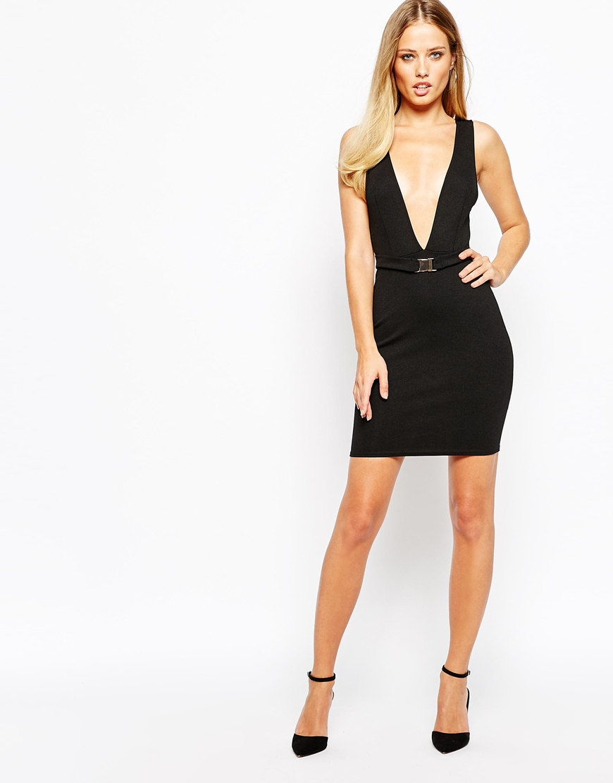 Turmec » oh my love midi bodycon dress with deep v neck 634084947
