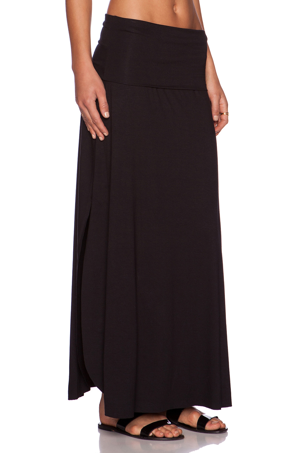 three dots maxi skirt in black lyst