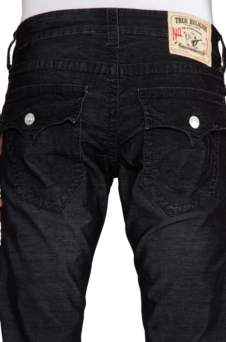 shop best sellers price reduced marketable True Religion Blue Ricky Corduroy Classics in Black for men