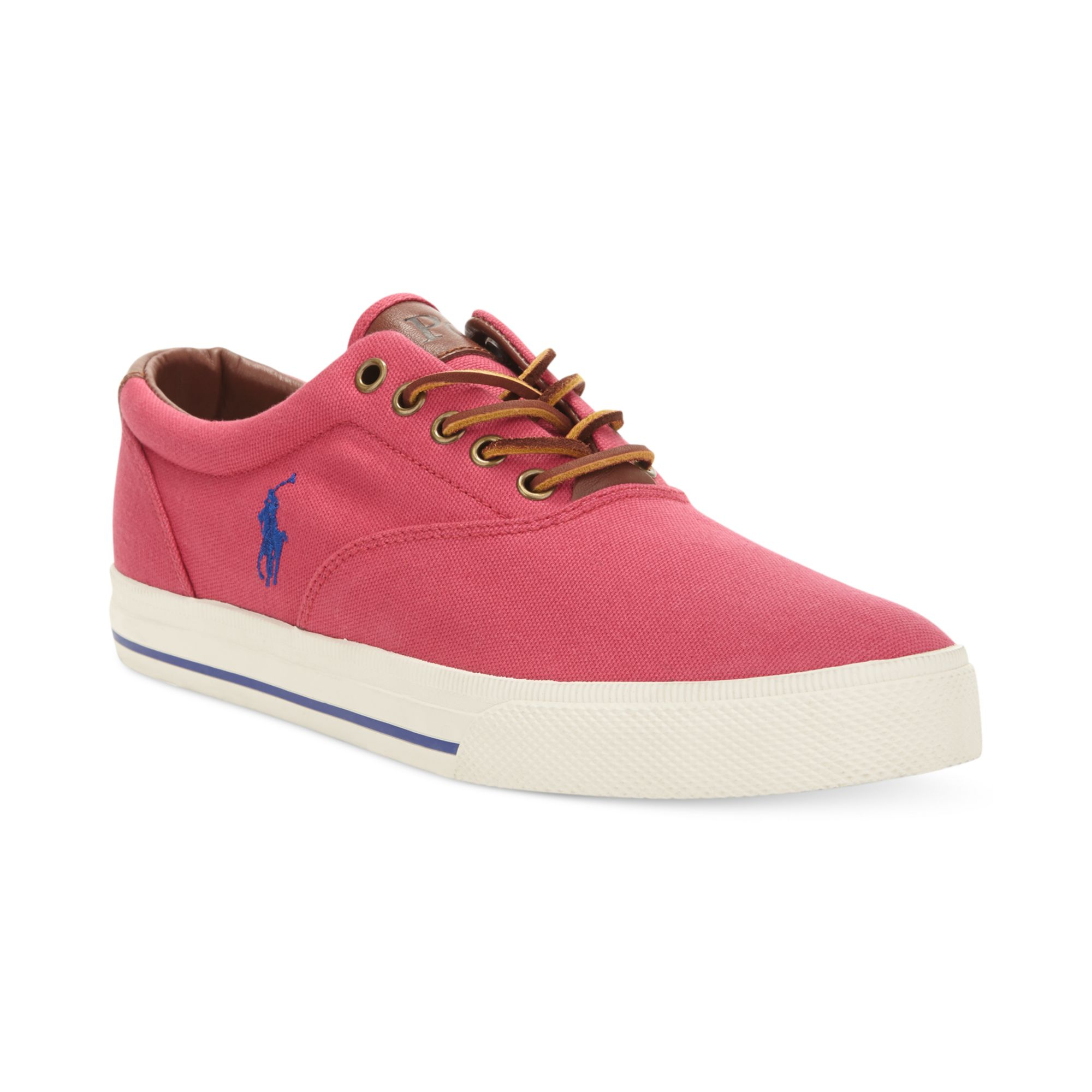 polo ralph vaughn sneakers in pink for pink