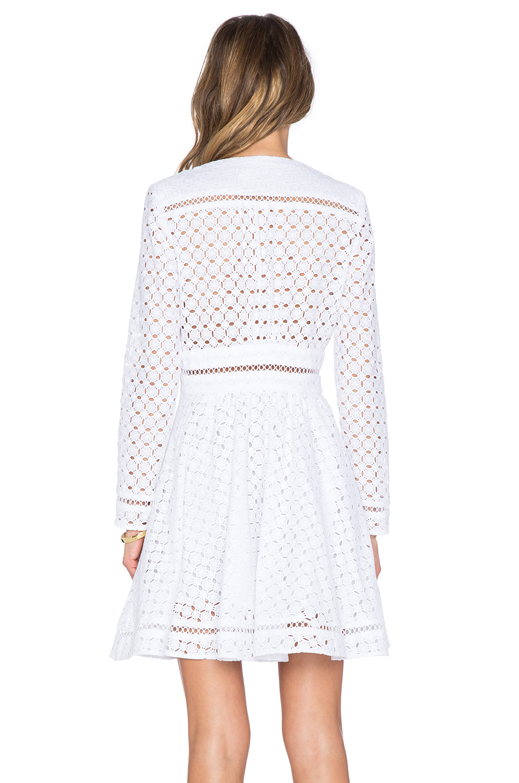 Zimmermann Ryker Broderie Dress in White | Lyst