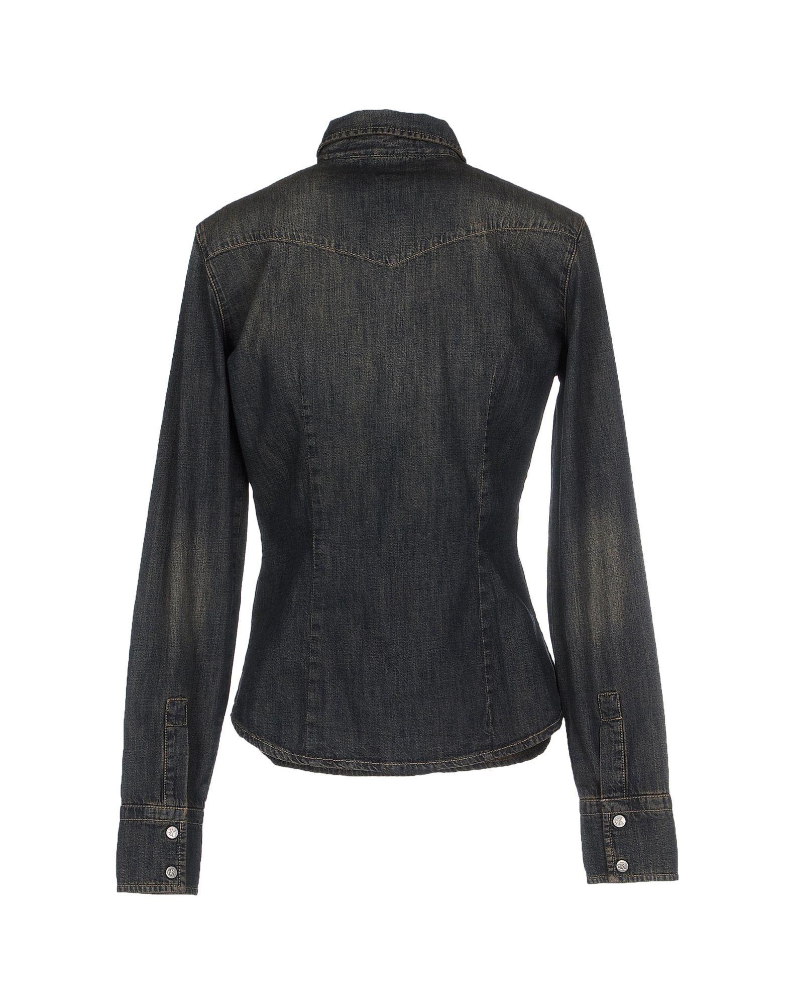 calvin klein jeans denim shirt in blue lyst. Black Bedroom Furniture Sets. Home Design Ideas
