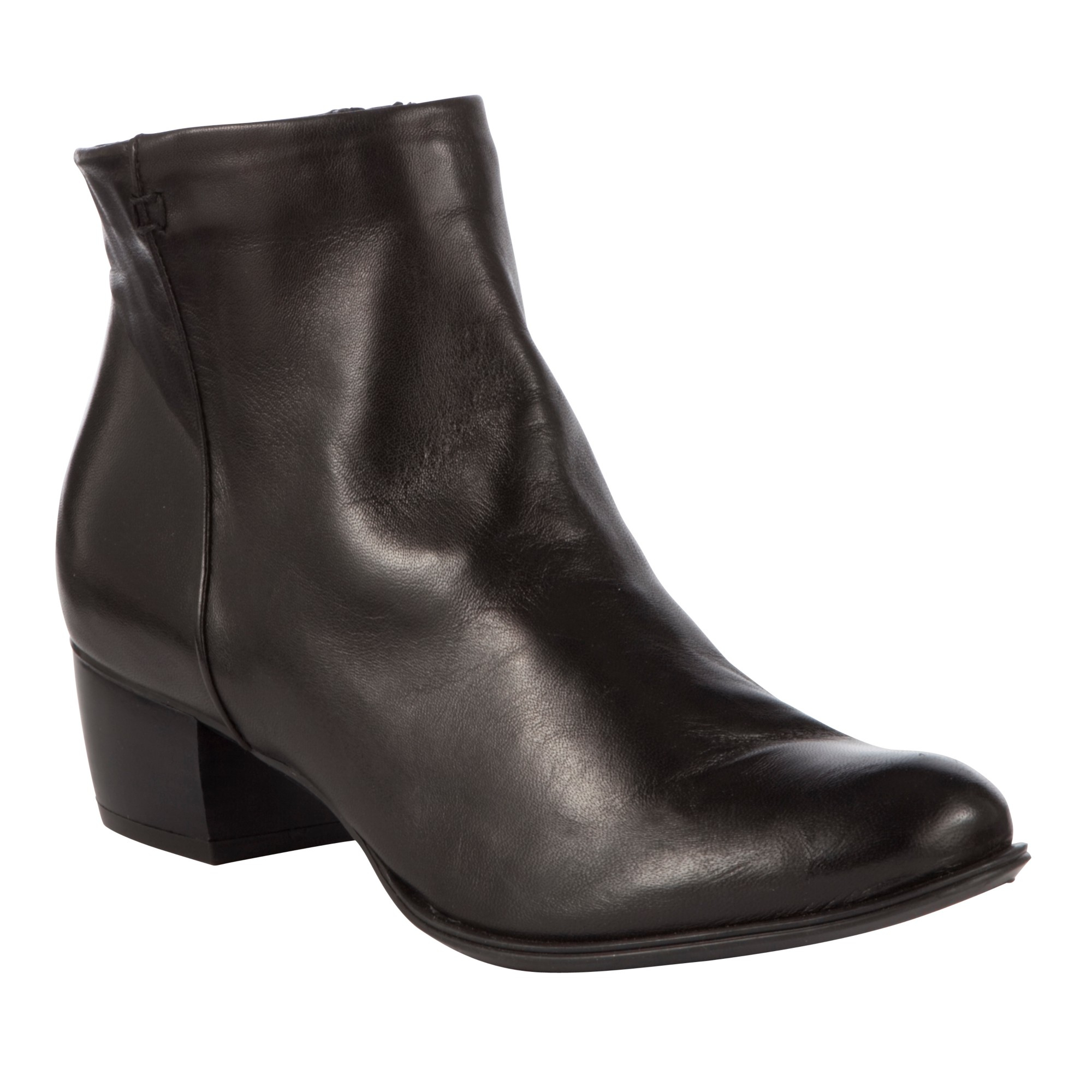 John Lewis Albany Leather Ankle Boots in Black