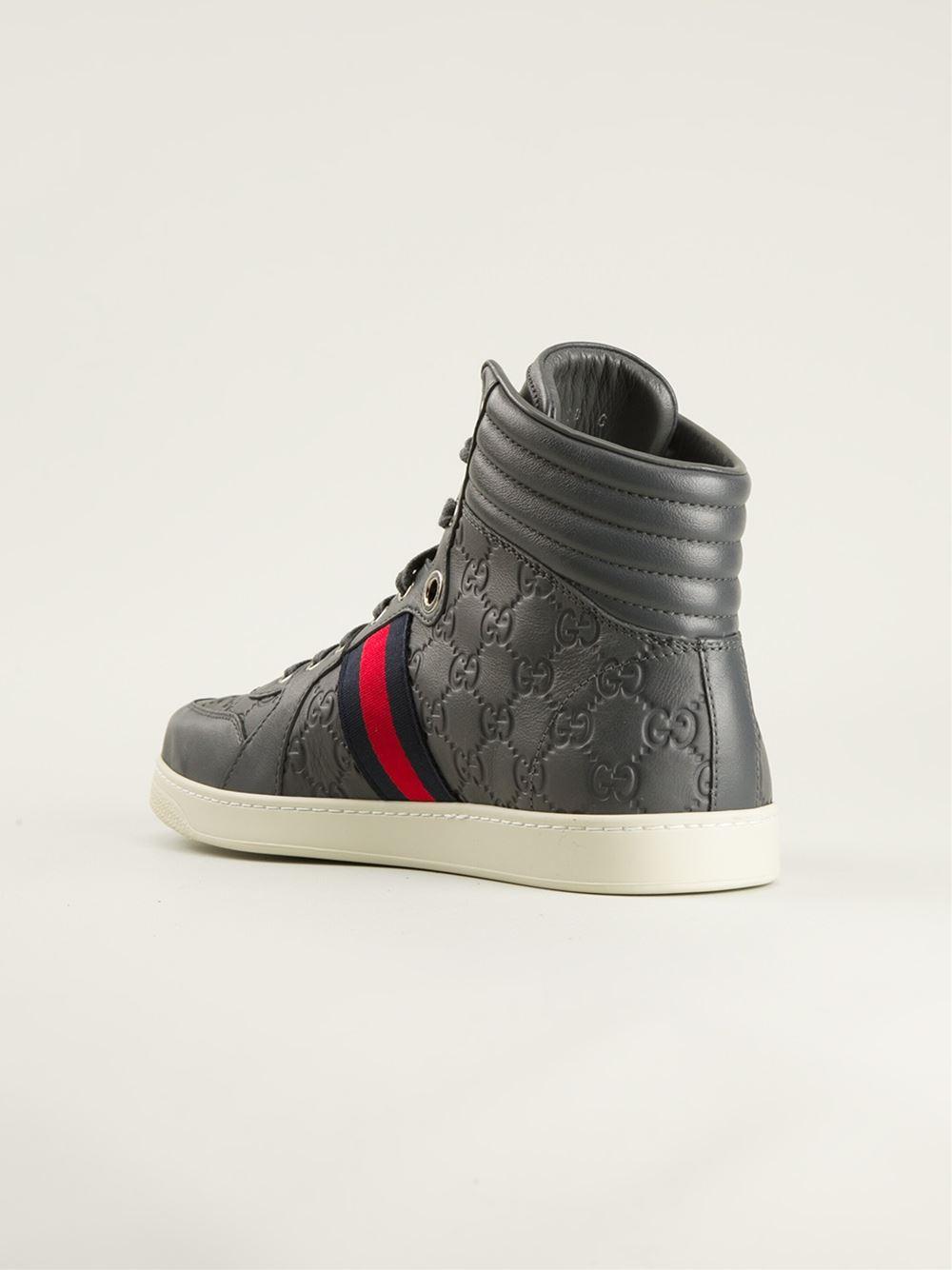 dca0efe3eb3 Gucci Monogram Sneakers in Gray for Men - Lyst