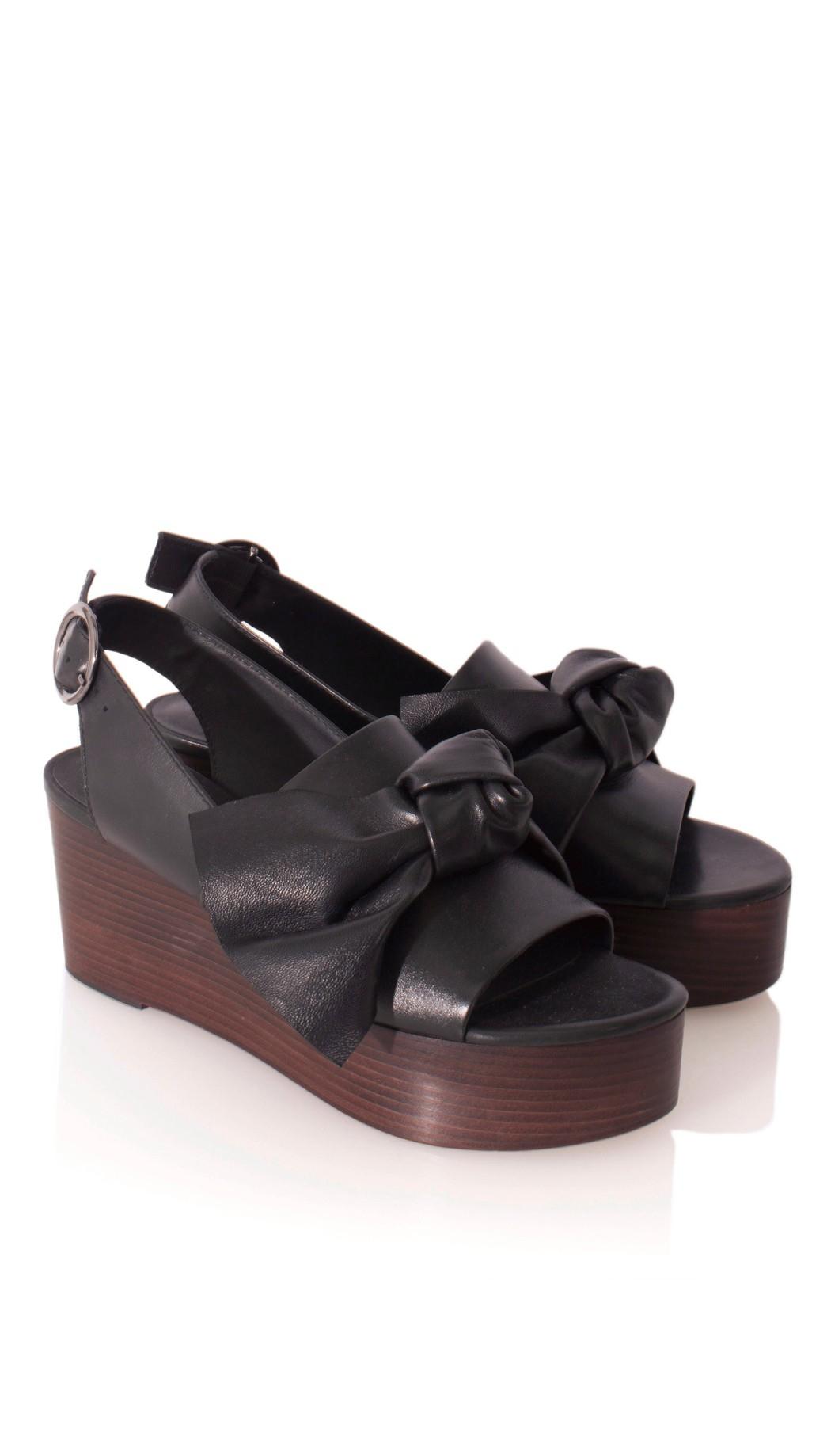 402d6b9a6e0 Lyst - Tibi Estel Platform Sandals in Black