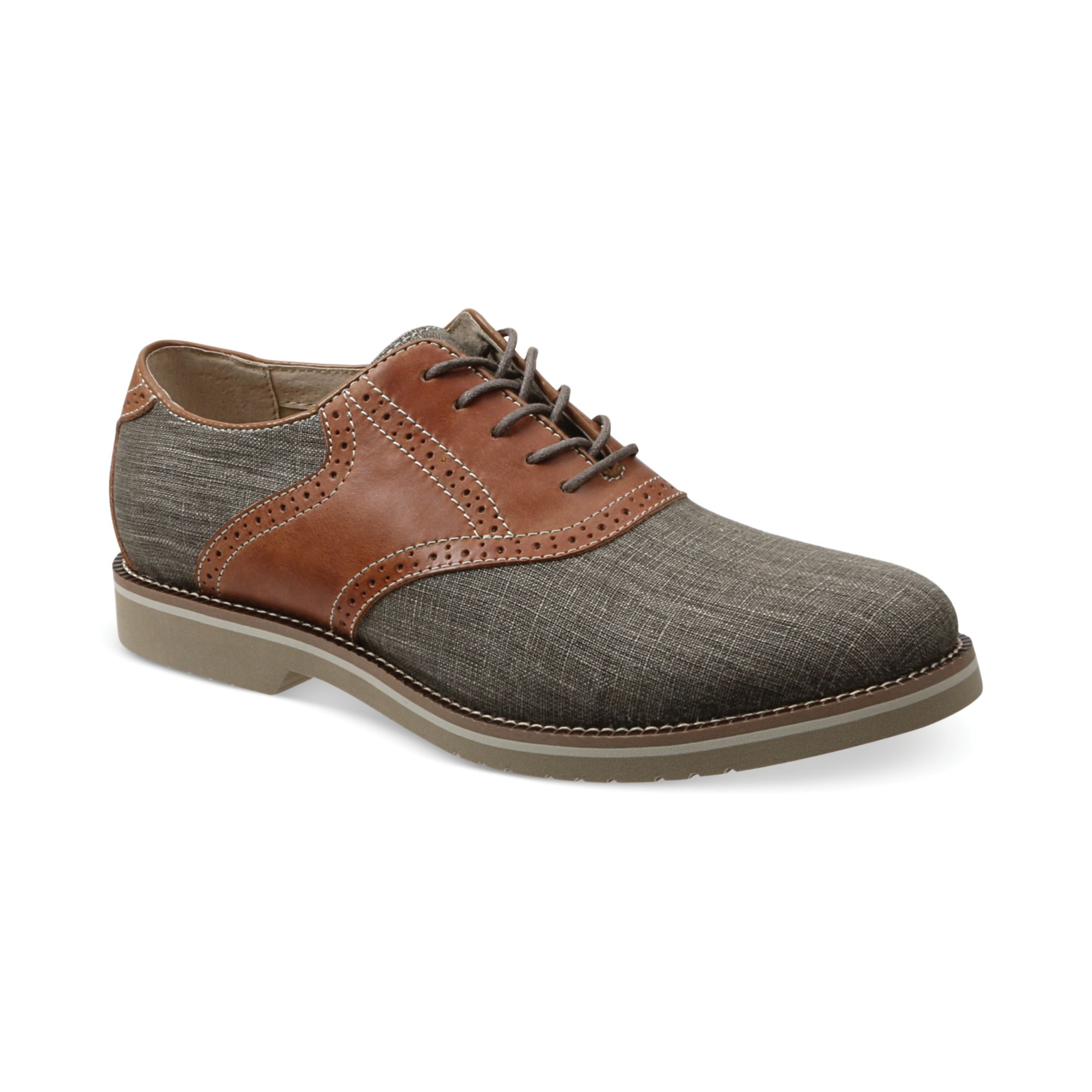 g h bass co carson saddle oxfords in gray for