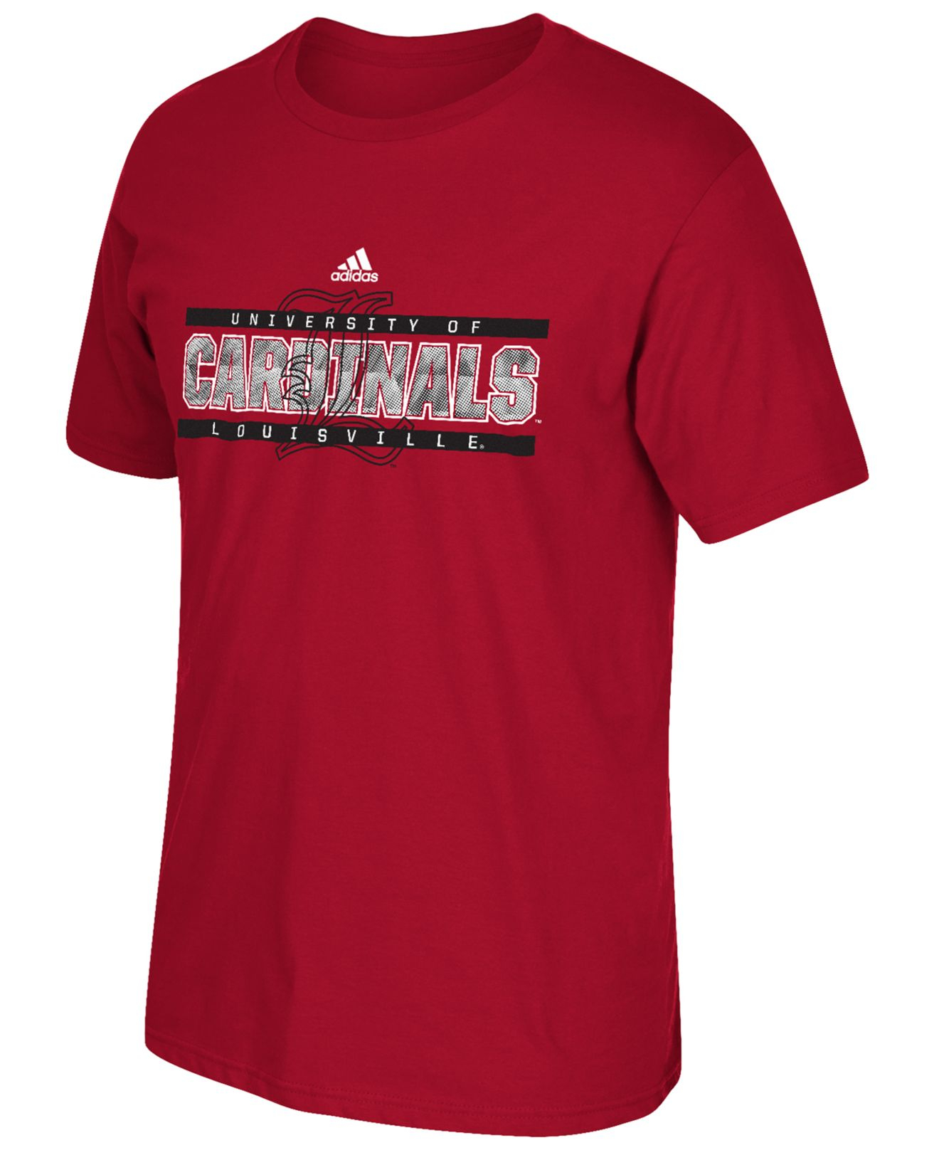 Adidas men 39 s louisville cardinals college energy t shirt for Louisville t shirt printing
