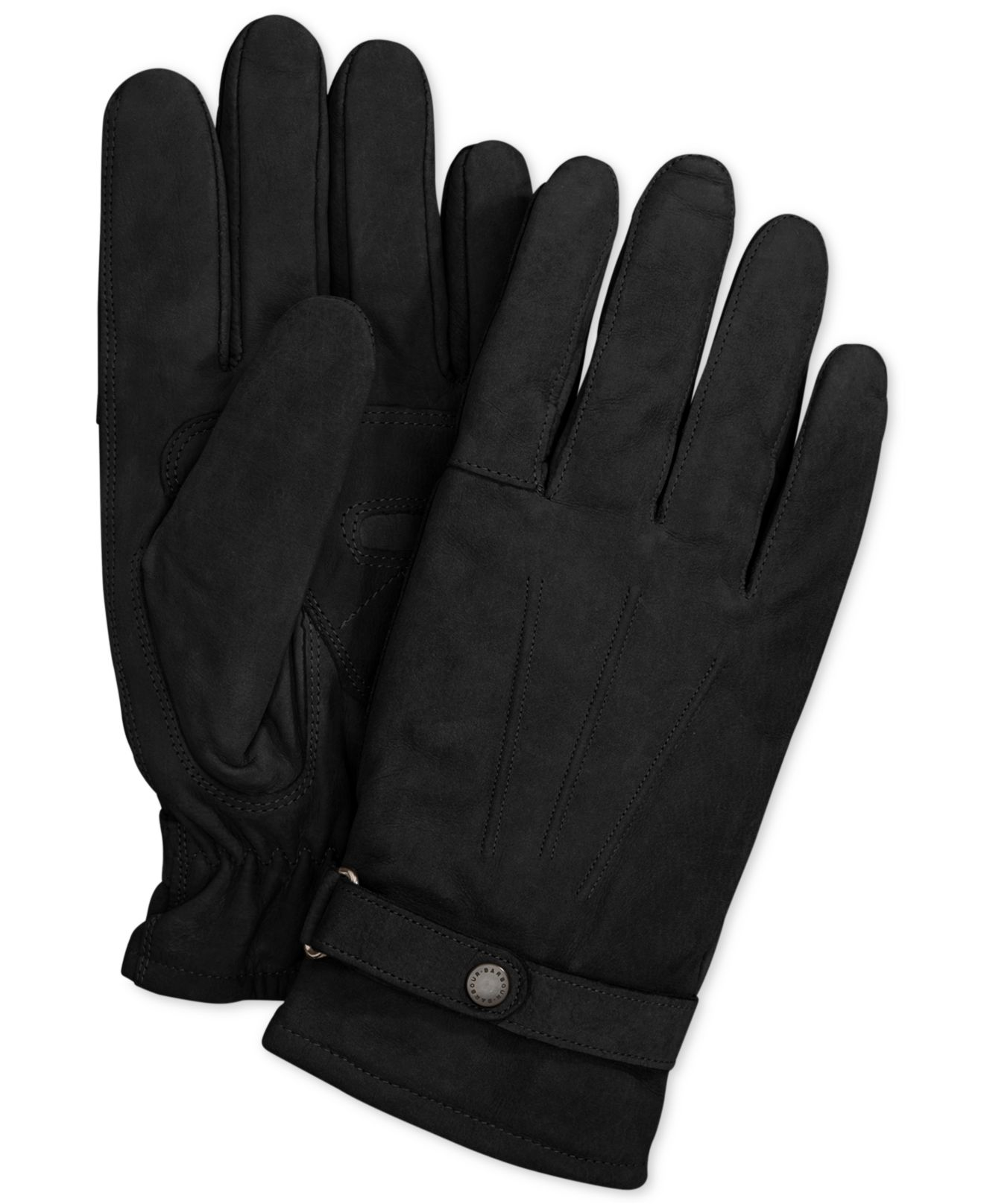 Barbour black leather utility gloves -  Utility Gloves Gloves Barbour Mens Leather Thinsulate Gloves Gloves