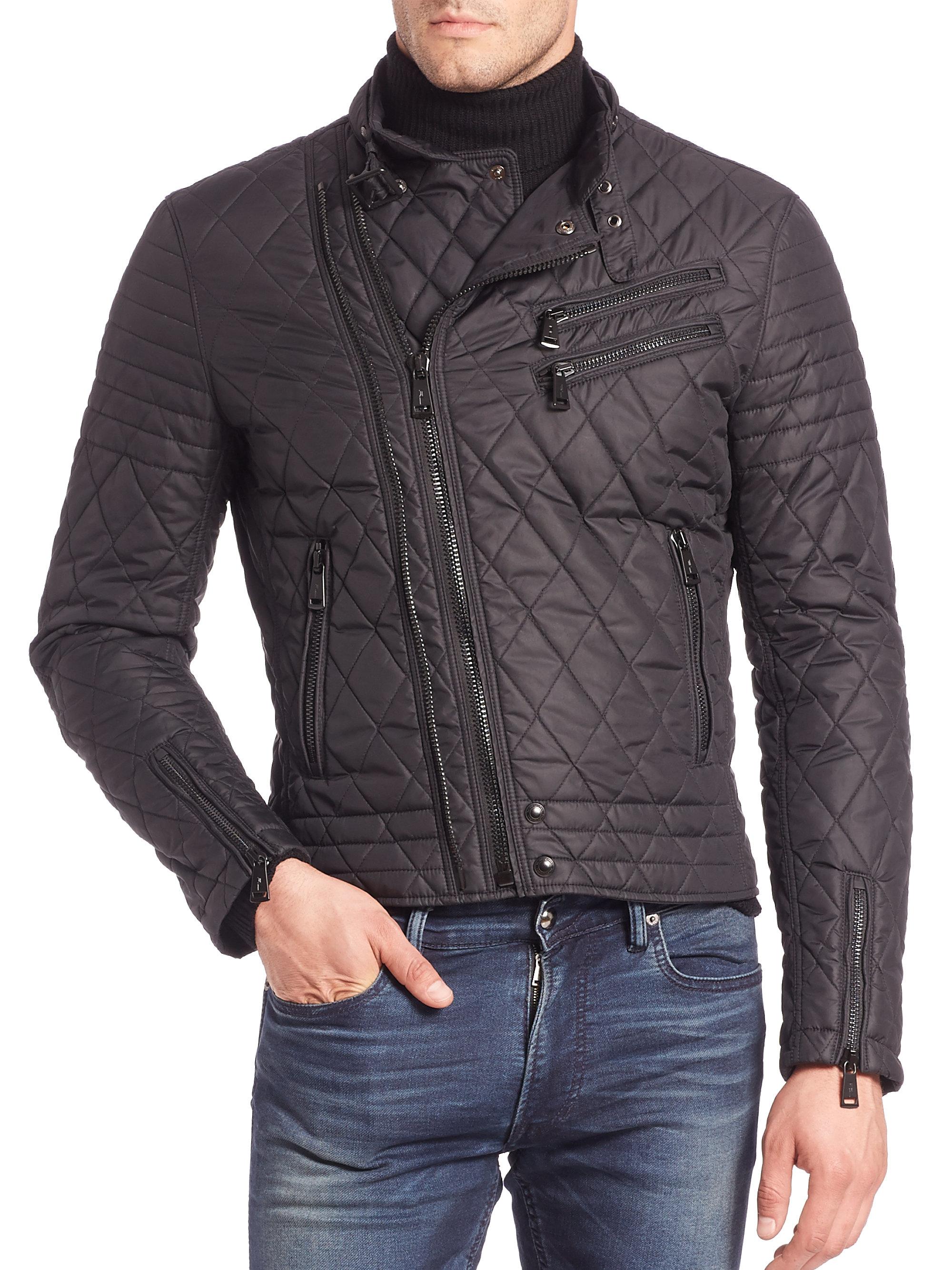 lyst ralph lauren black label grand prix jacket in black for men. Black Bedroom Furniture Sets. Home Design Ideas
