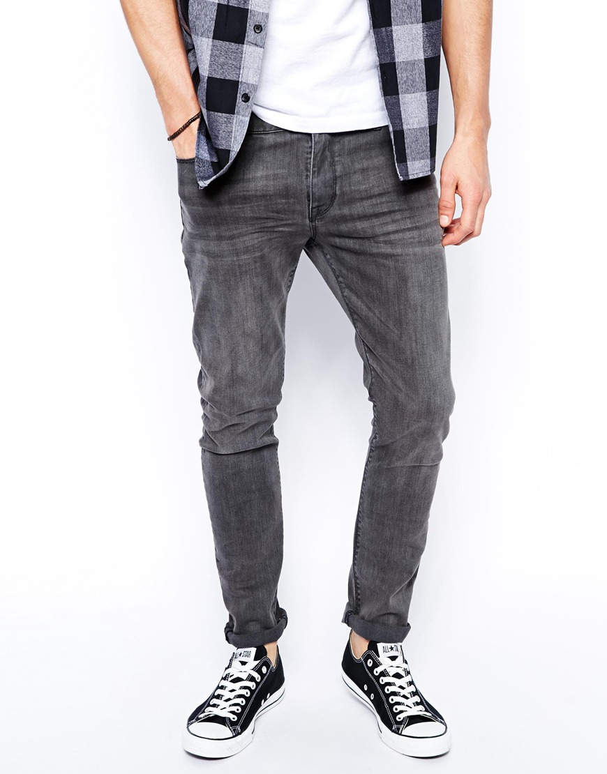 Dark Grey Jeans Mens - Xtellar Jeans