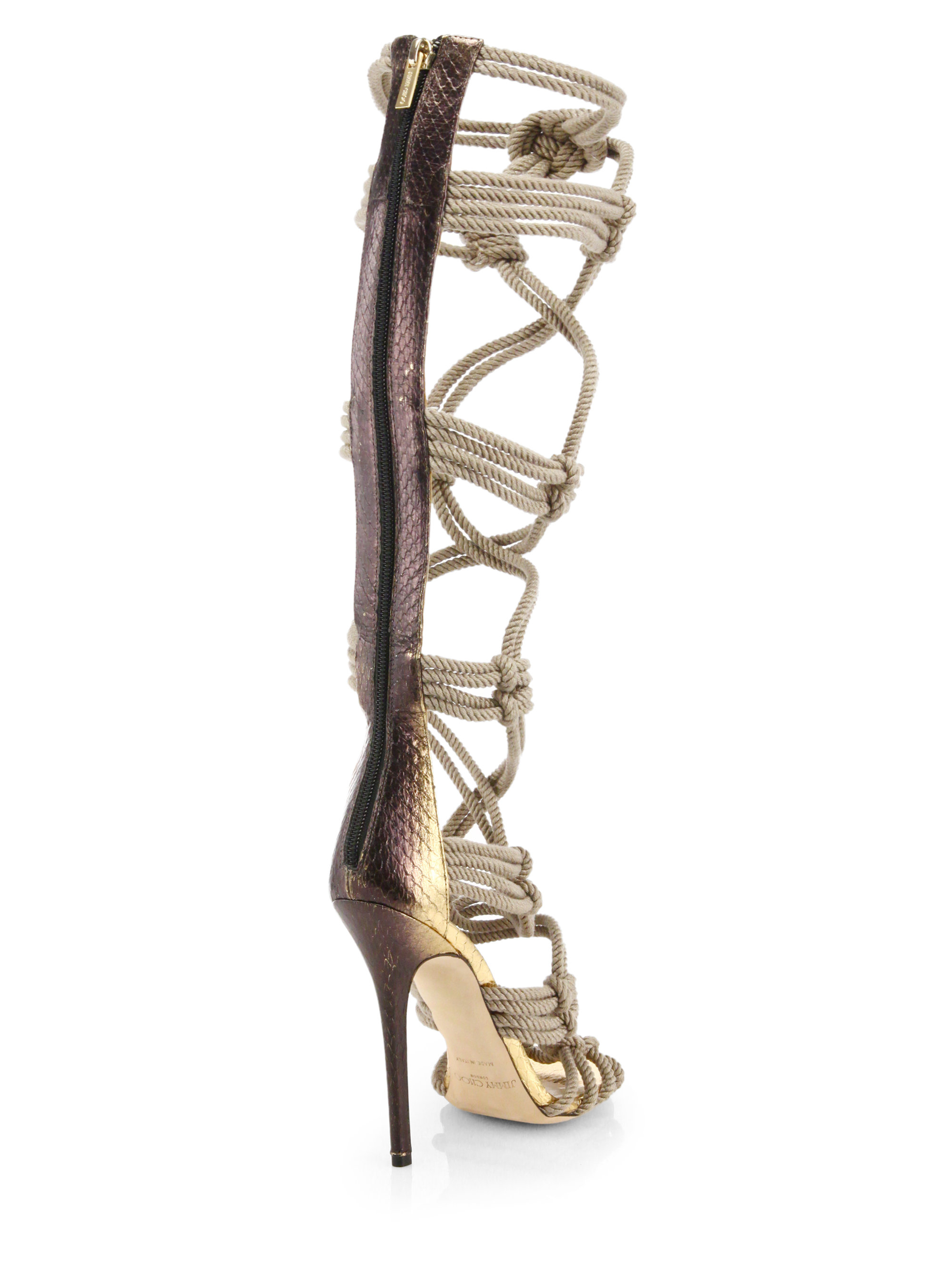 good selling cheap price Jimmy Choo Braided Rope Sandals discount latest pre order cheap online countdown package cheap price p1v6yn