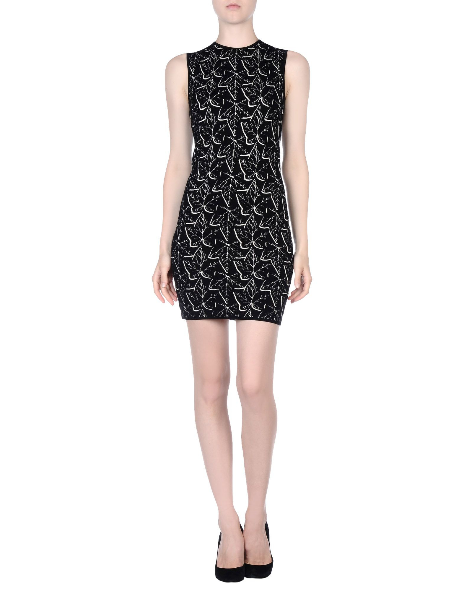Lyst - Alexander Mcqueen Short Dress in Black