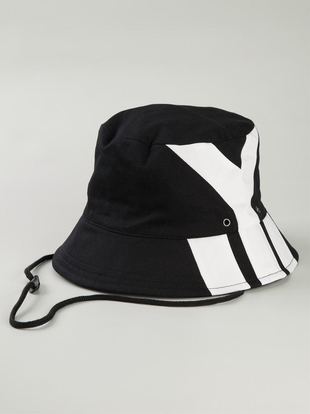 Mens Y-3 Bucket Hat In Black