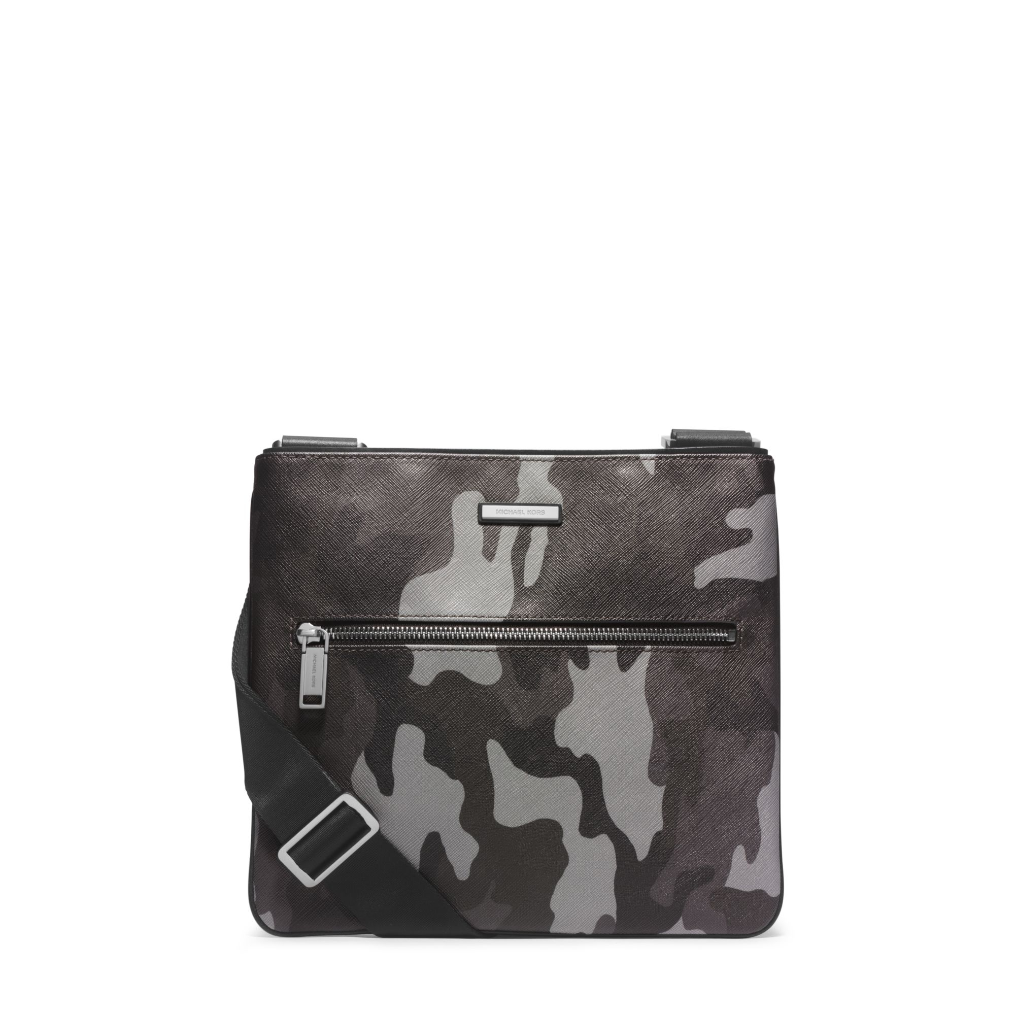 47ea1a0966a8 Lyst - Michael Kors Jet Set Men s Camouflage Small Crossbody in Gray ...