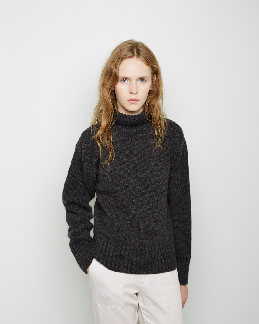 Lyst Mhl By Margaret Howell Wool Roll Neck Sweater In Black