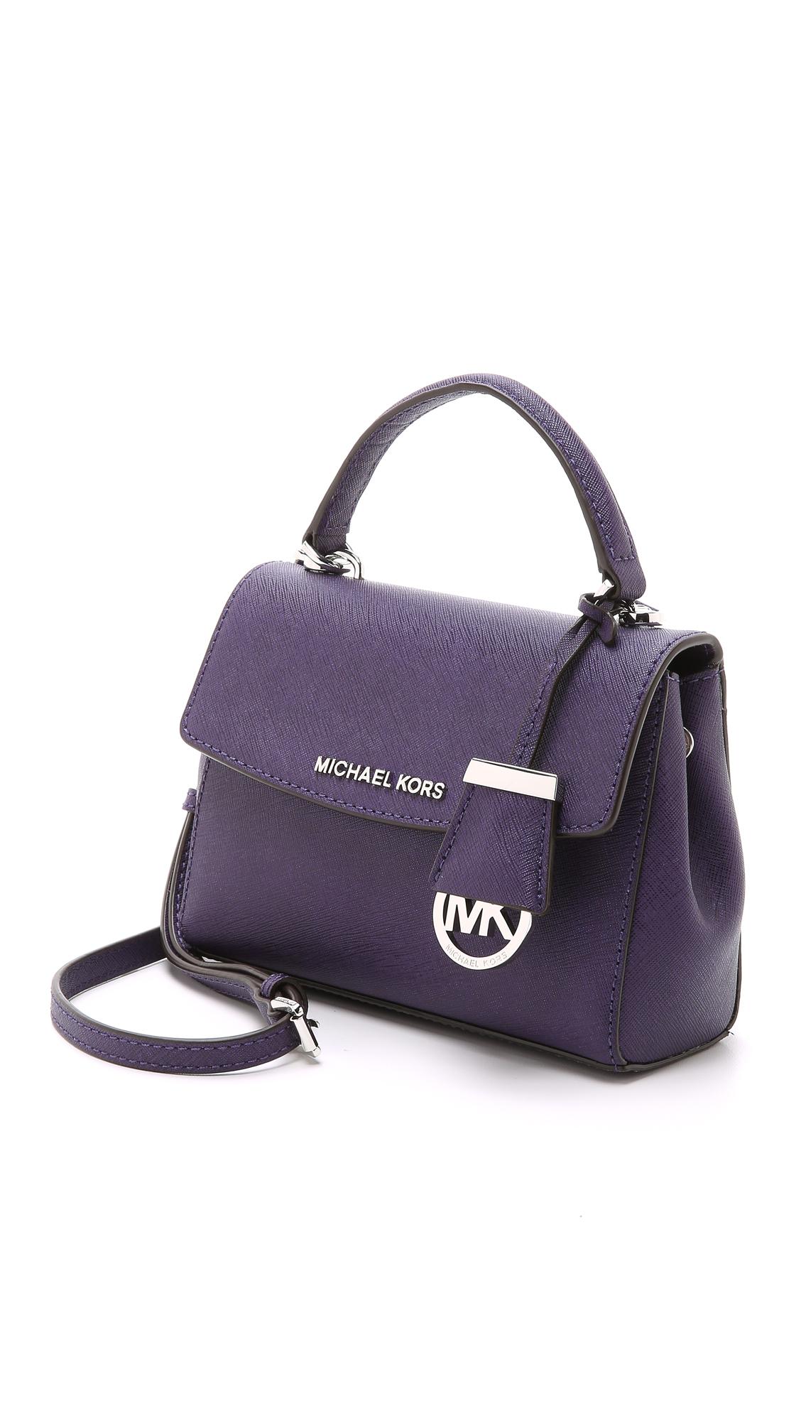MICHAEL Michael Kors Ava Cross Body Bag - Iris in Blue