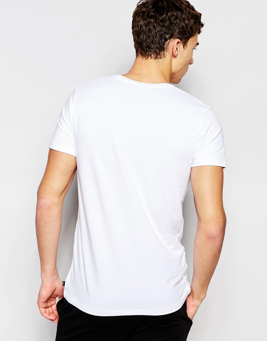 Some slim-fit shirts to consider are items that range from sports shirts to casual out and about tees. One shirt that is always a good choice is the handsome v-neck tee. Crewneck tees range from stripes and prints to solids and slim-fit undershirts.