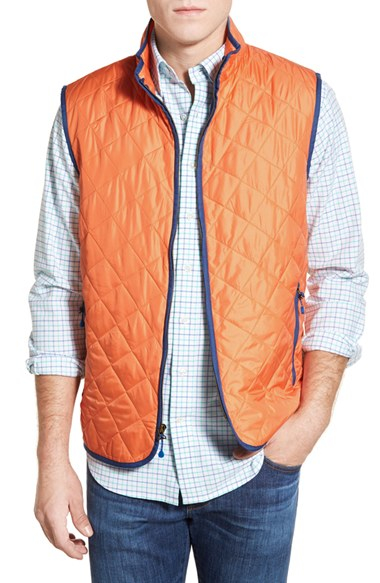 Vineyard Vines Chilmark Diamond Quilted Full Zip Vest In
