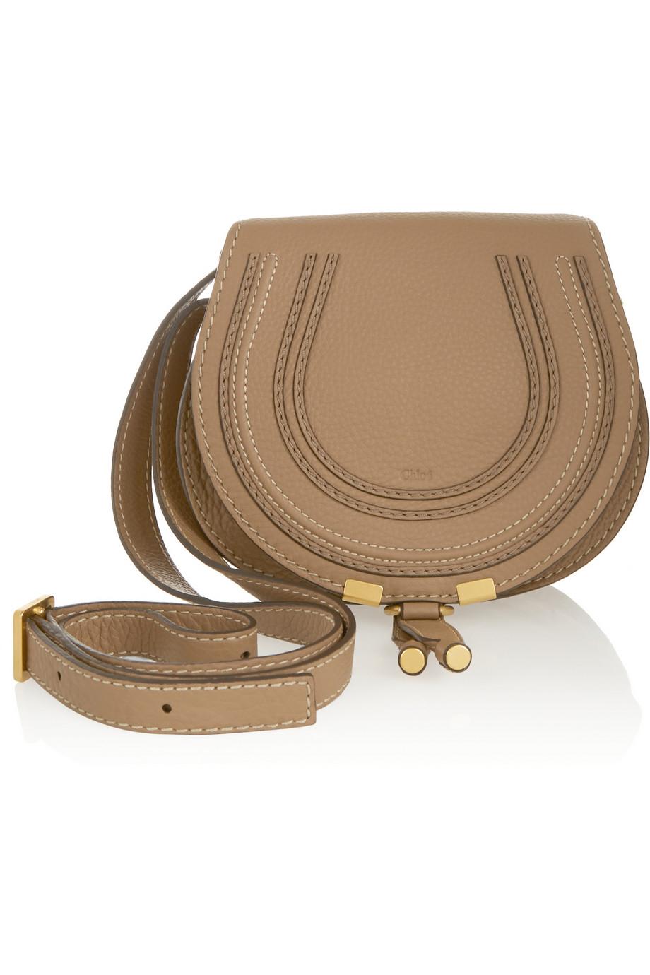 chlo the marcie mini textured leather shoulder bag in. Black Bedroom Furniture Sets. Home Design Ideas