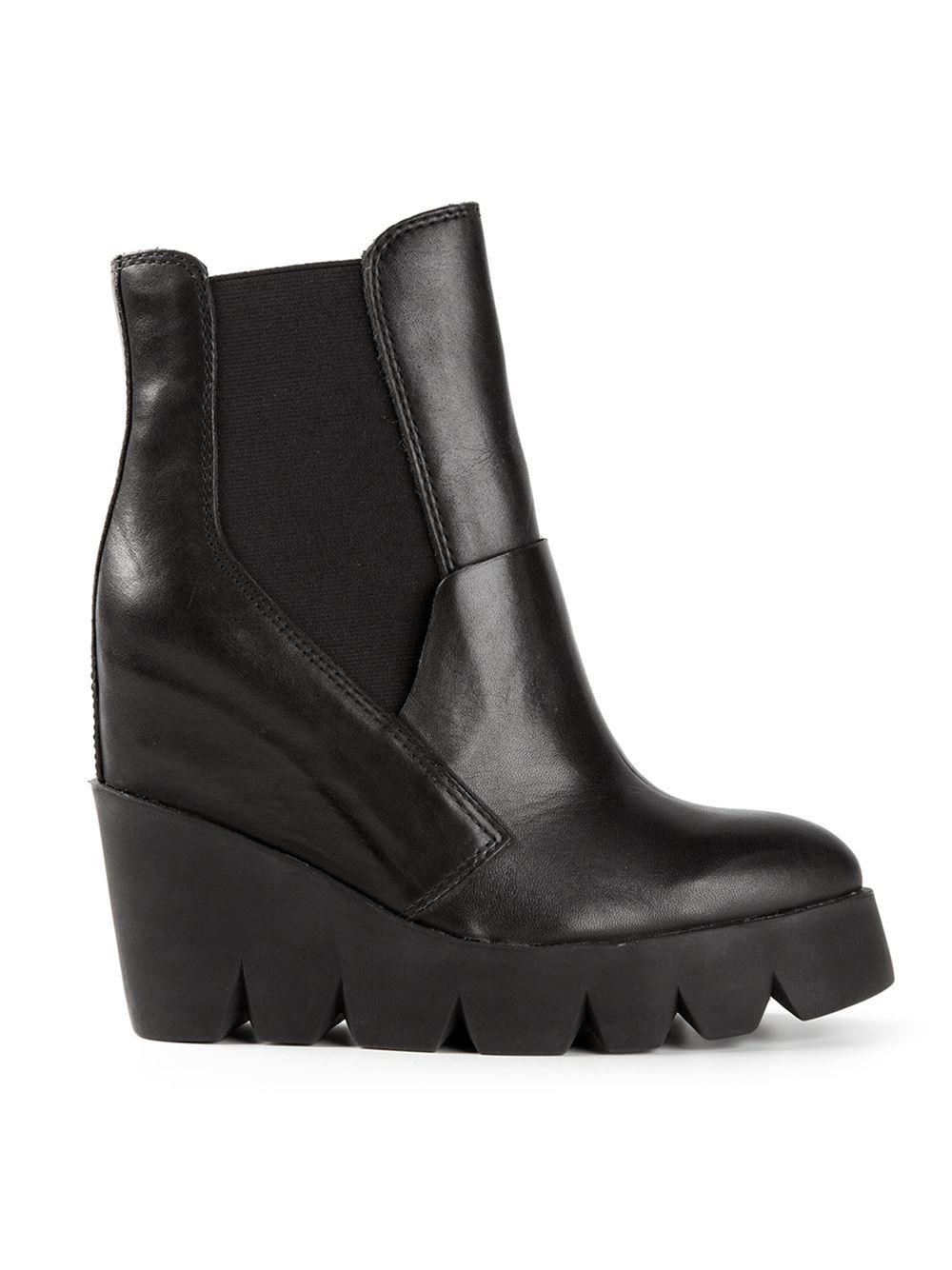51c2ce3b6711 koi footwear Black Chunky Platform Chelsea Boots - Ecosia