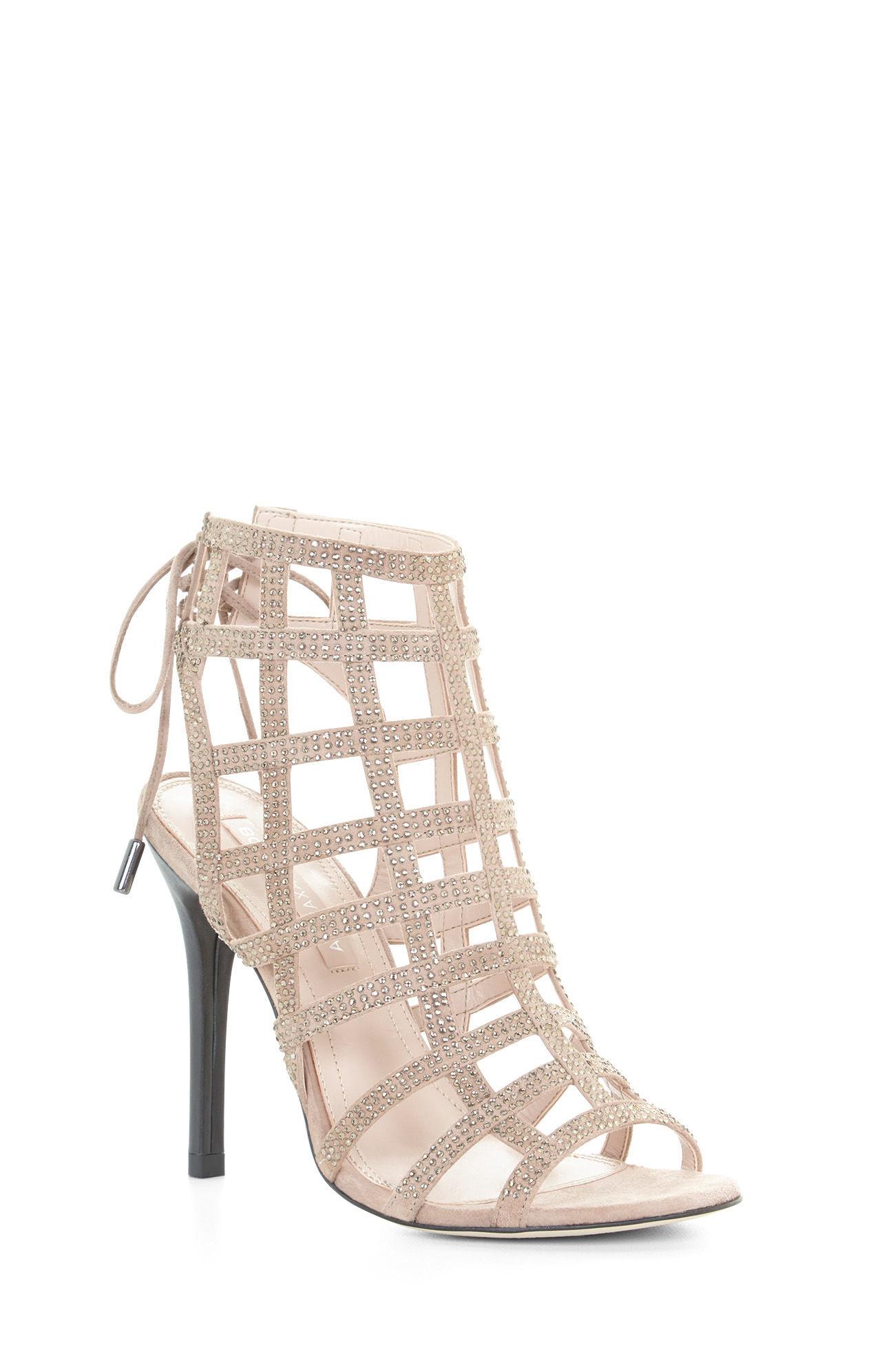 bc64020e3bfc53 Lyst bcbgmaxazria lien high heel caged sandal in natural jpg 1268x1992 Bcbg  natural heels
