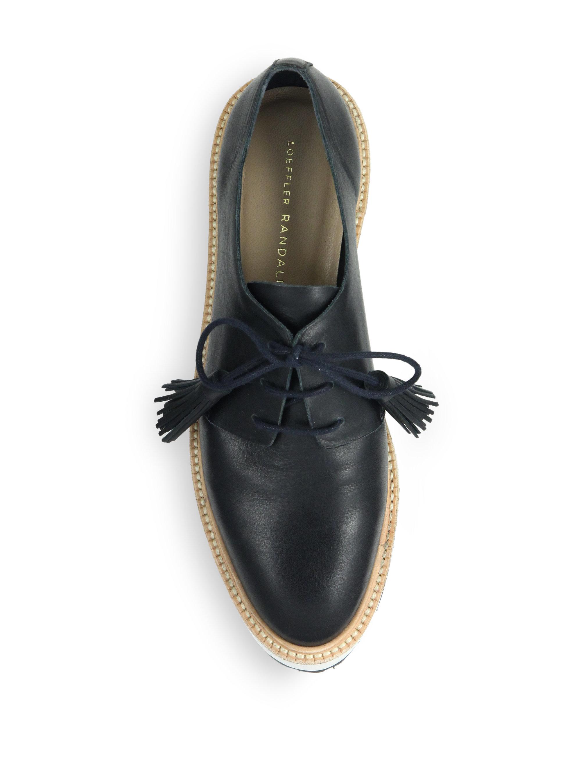 5825f39ac Loeffler Randall Callie Leather Platform Oxfords in Black - Lyst