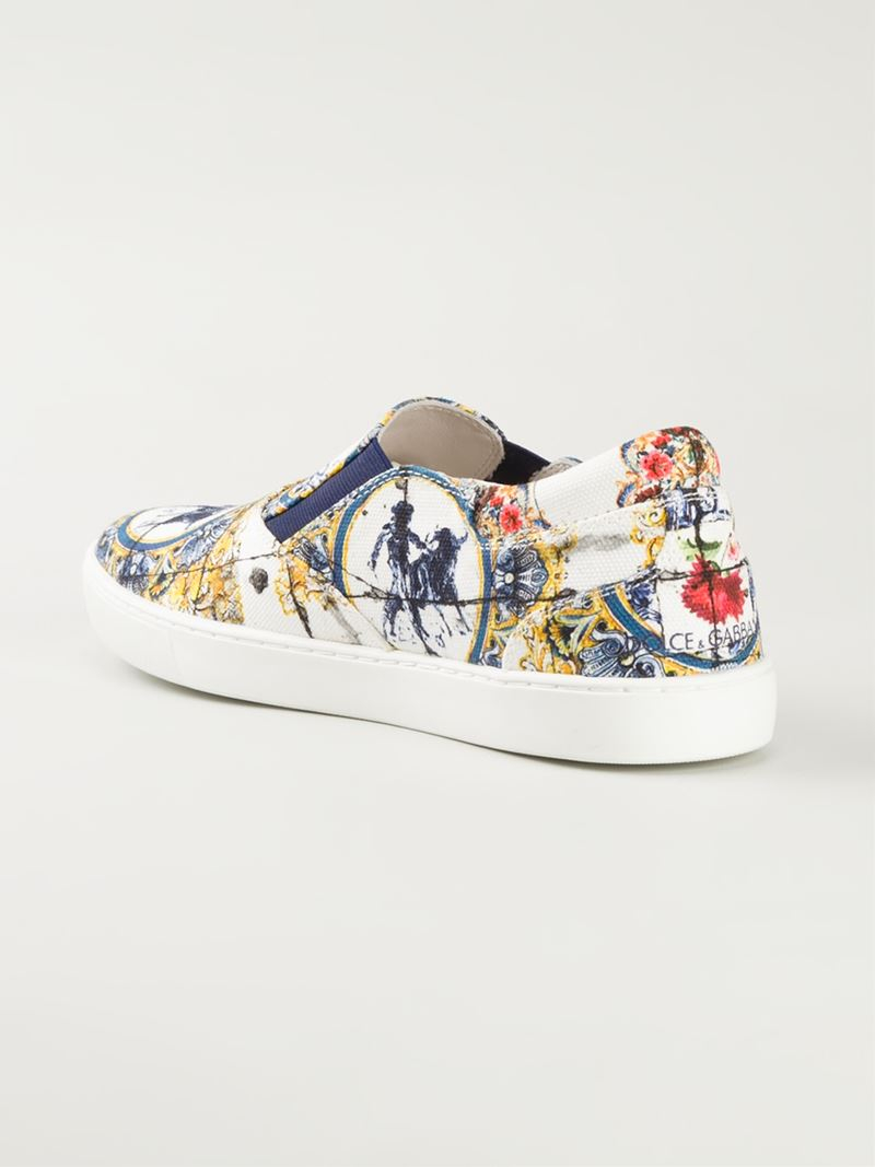 Dolce & Gabbana Slip-on Imprimé Léopard Chaussures De Sport - Multicolor NvfiKP