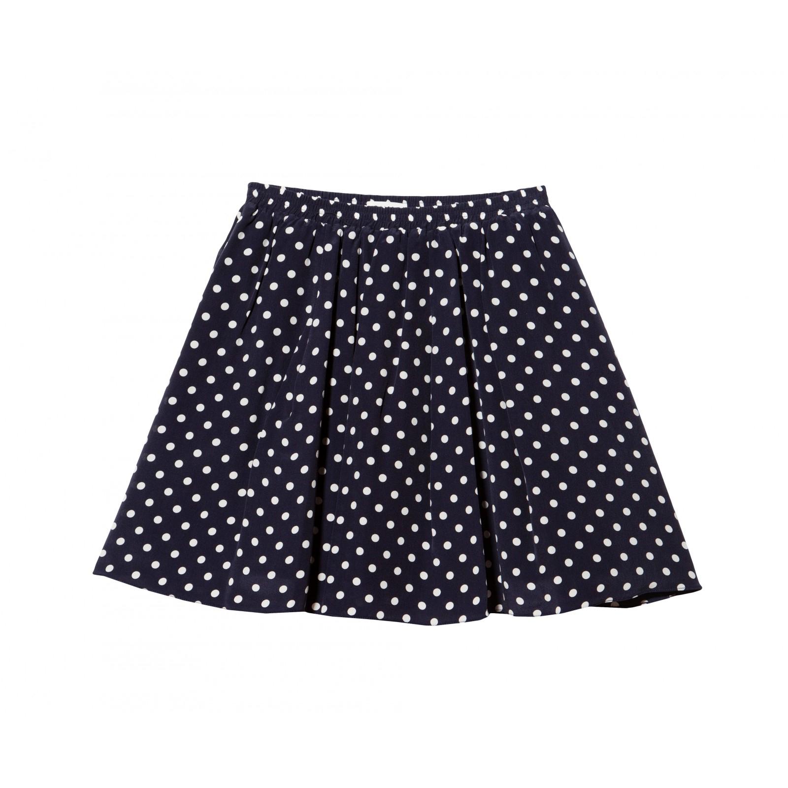 suno polka dot mini skirt in blue navy lyst