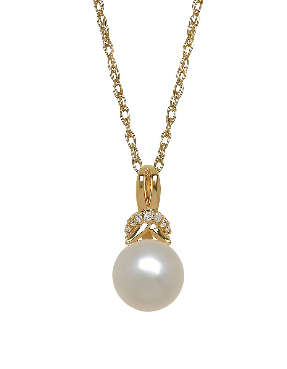 lord 8mm white pearl an 14k yellow gold