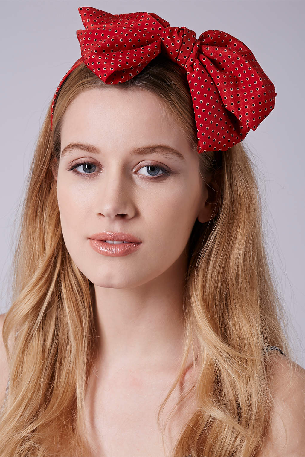 Lyst - TOPSHOP Oversize Floppy Bow Headband in Red bb539088fa4