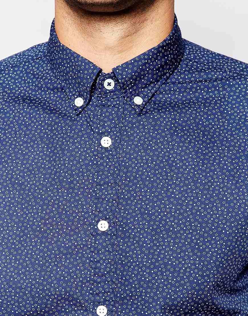73d7dc437 Tommy Hilfiger Shirt With Ditsy Floral Print Regular Fit in Blue for ...