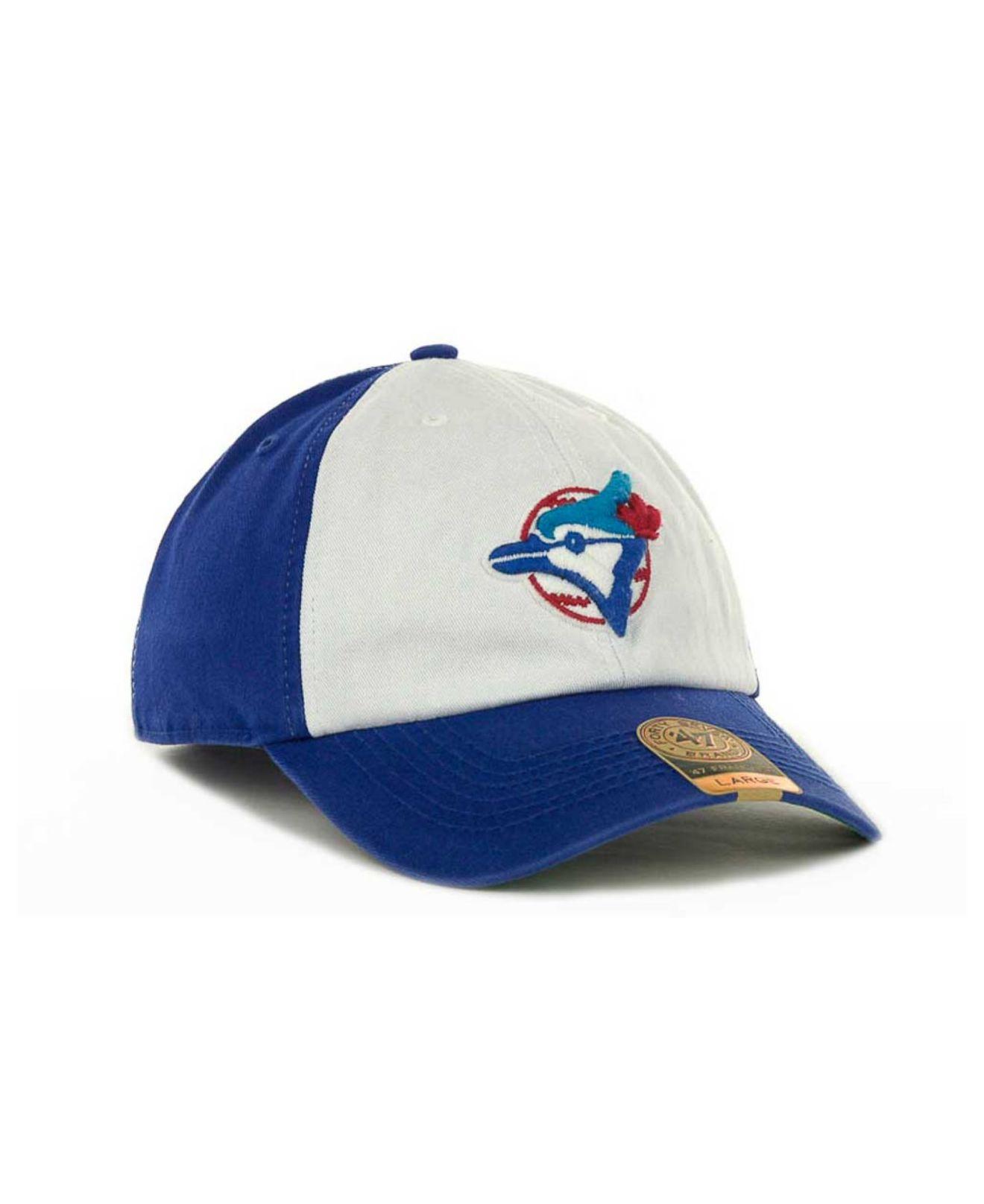uk availability fc0aa 3d0fb ... hot lyst 47 brand toronto blue jays mlb 47 franchise cap in white for  men 86fa2