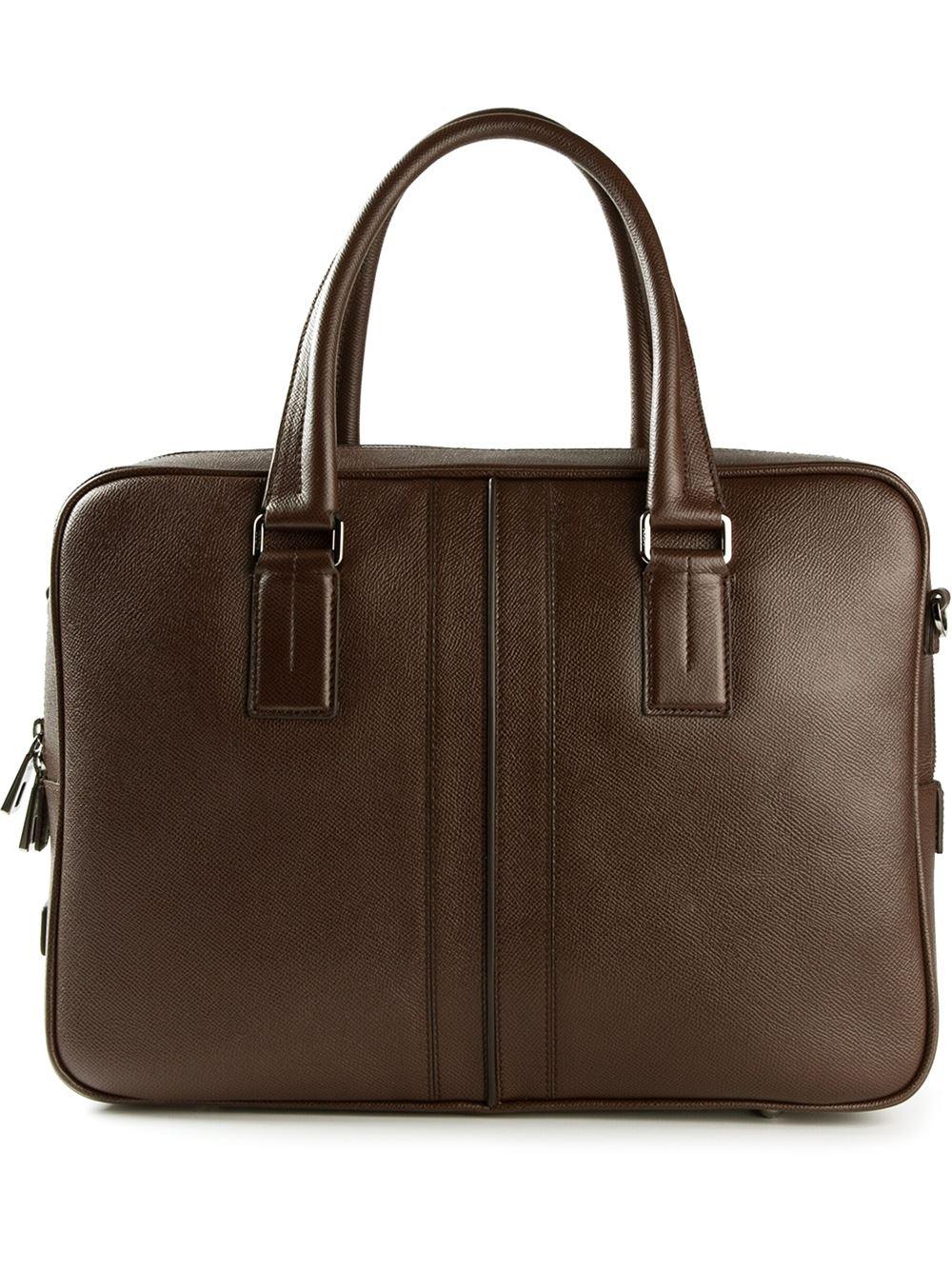 Tod39s medium document holder bag in brown for men lyst for Document holder bag