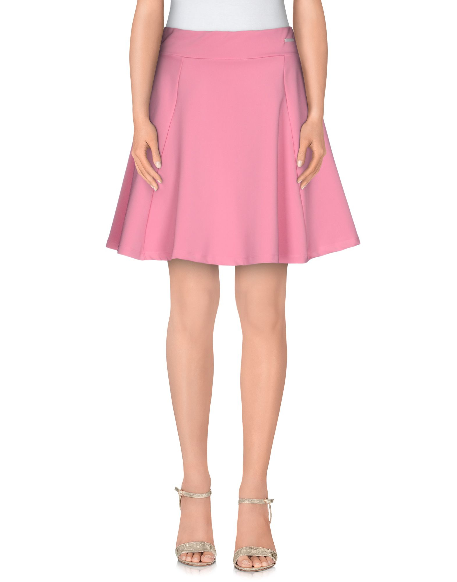 maison espin knee length skirt in pink lyst