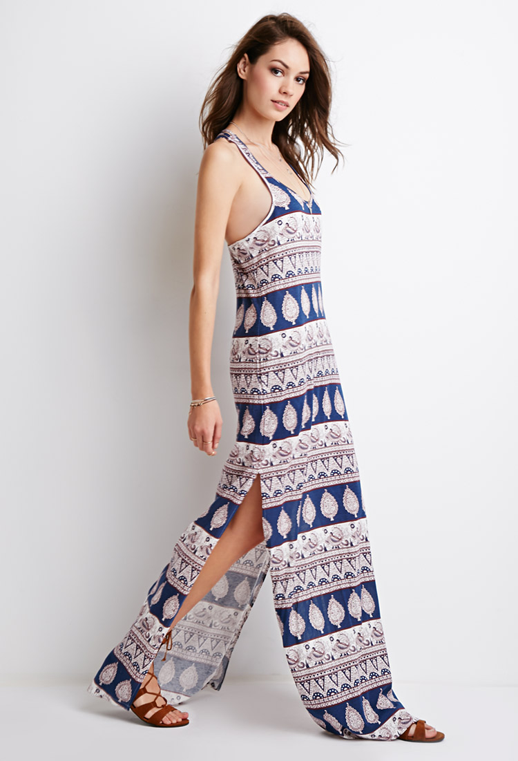 Paisley maxi dress forever 21