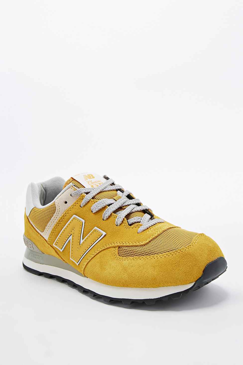 sale retailer e15cf 7e5ef New Balance 574 Classic Running Trainers In Mustard in ...