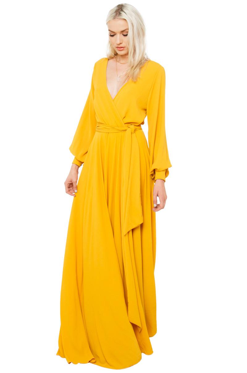 Black dress yellow sash - Gallery