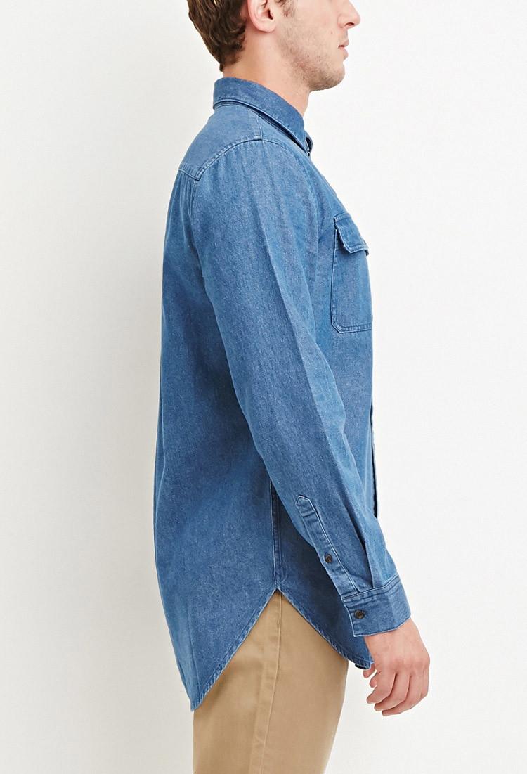 denim shirt pockets - photo #35