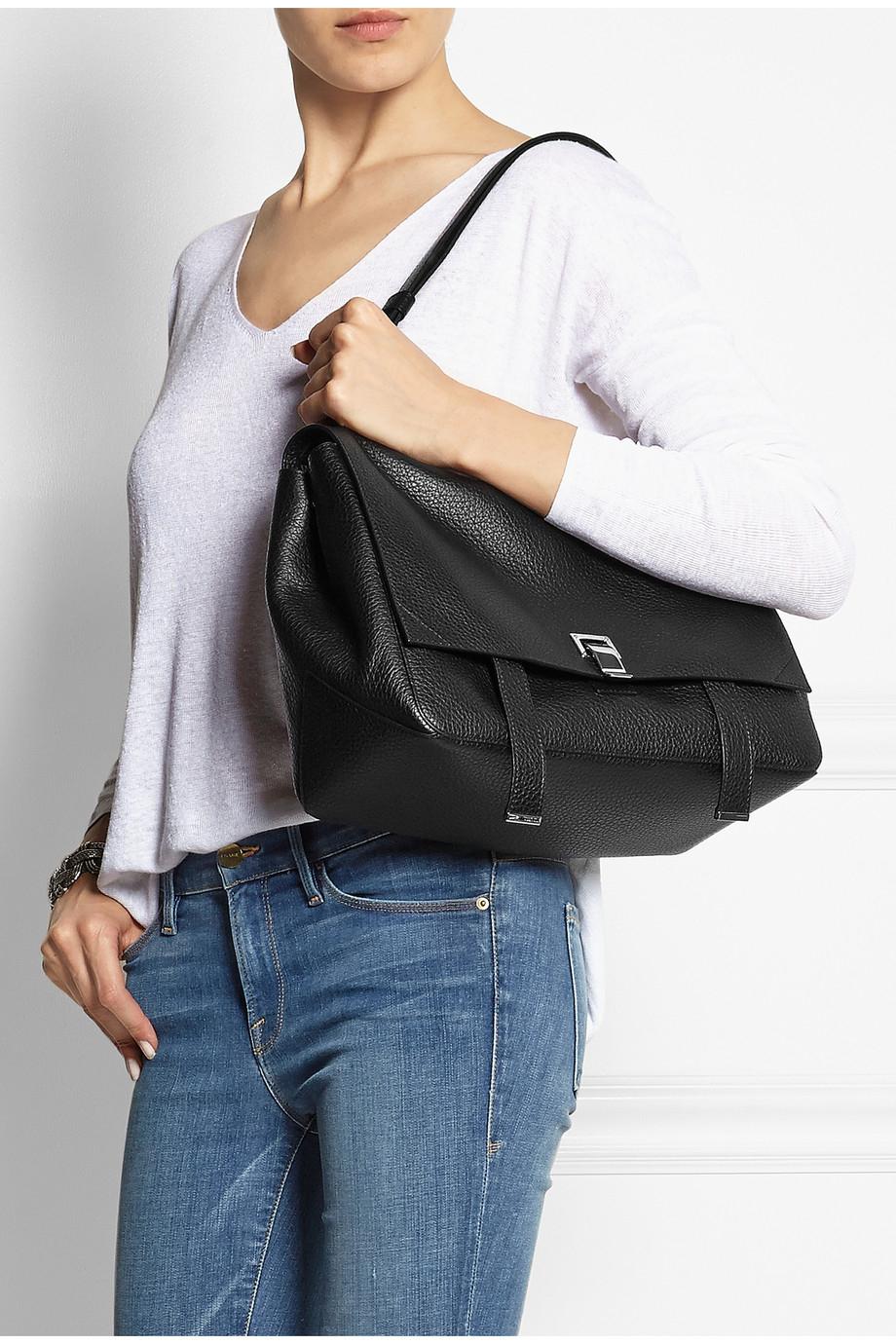 Ps Courier Large Textured Leather Shoulder Bag