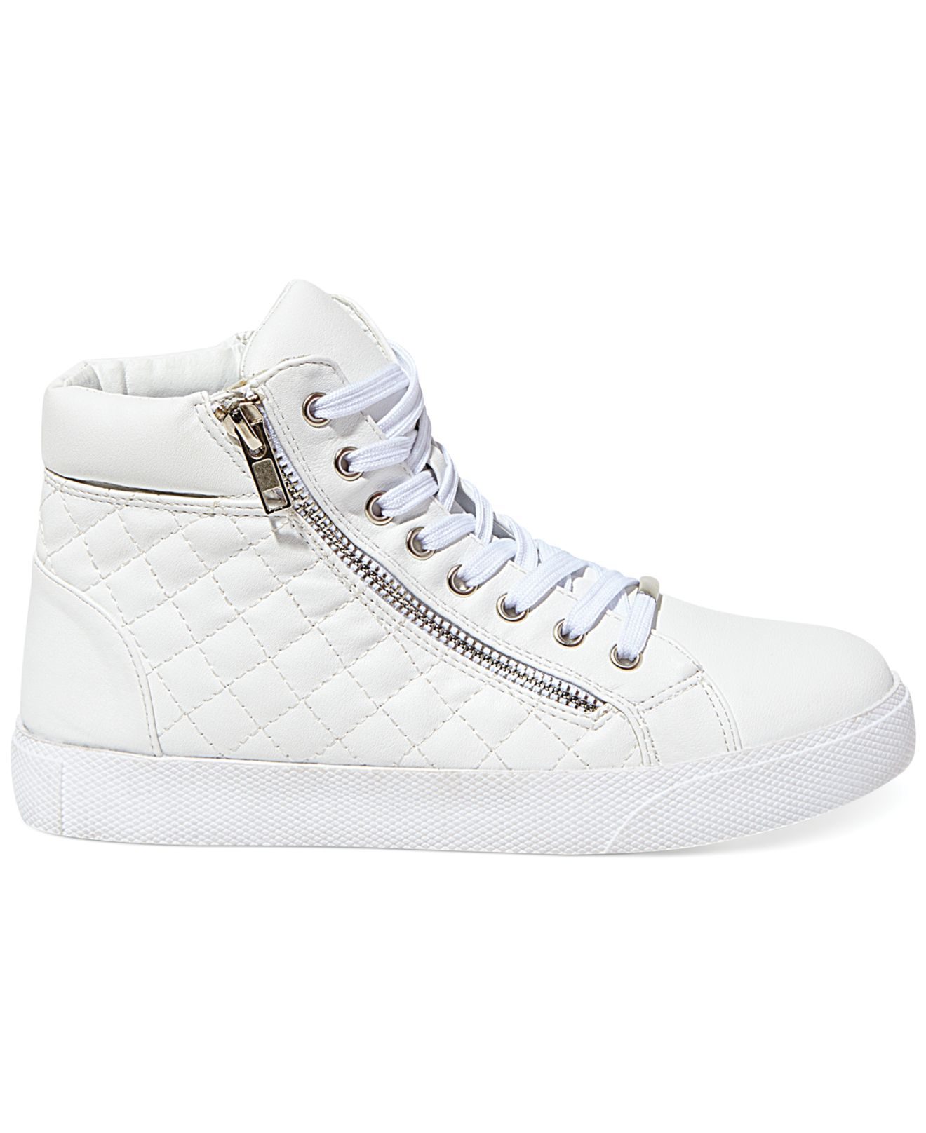 42bd3224e6a Steve Madden White Women'S Caffine High Top Quilted Sneakers