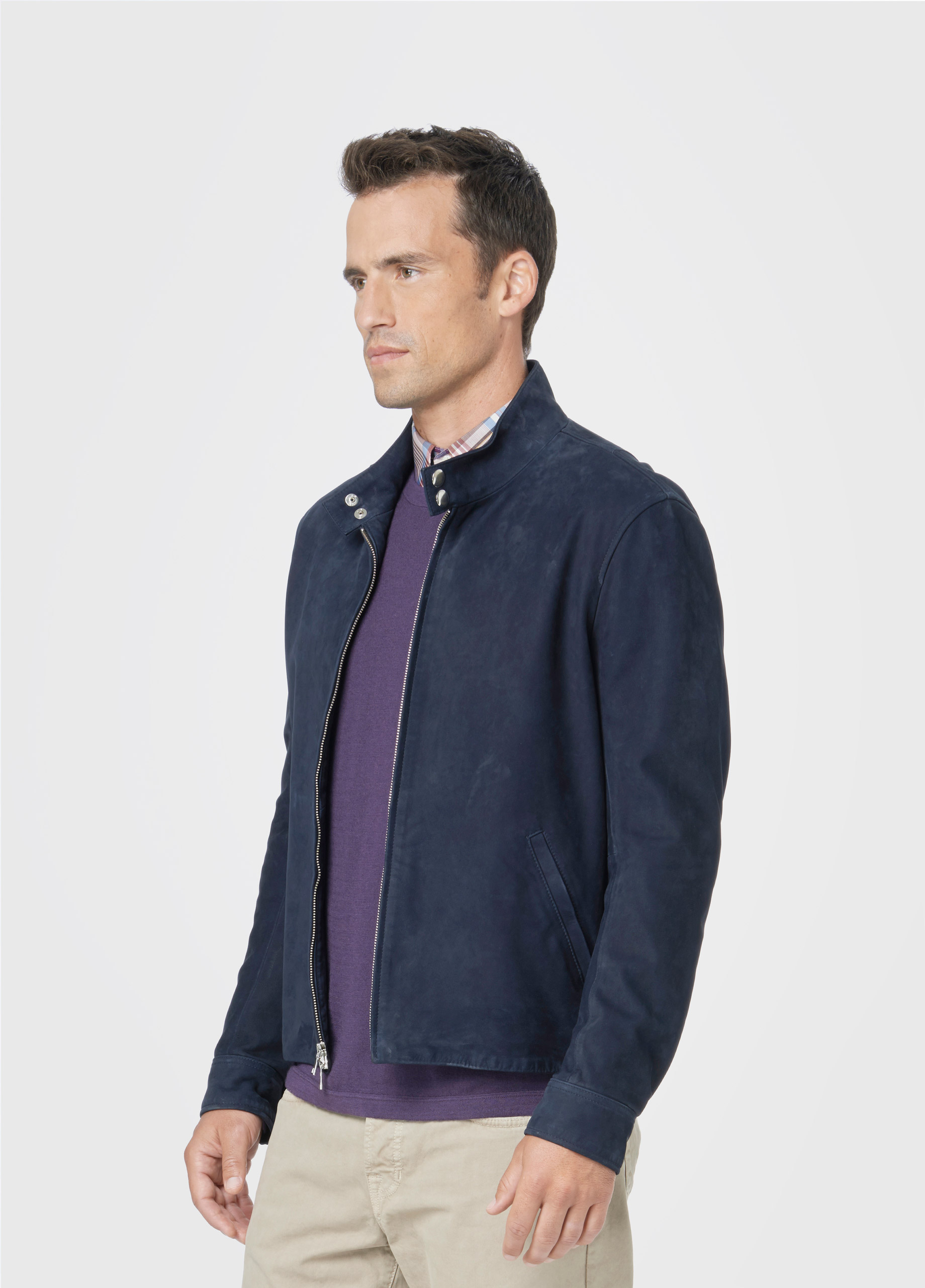 Suede Jacket Outfits For Men 20 Ways To Wear A Suede Jacket: Vince Harrington Suede Jacket In Blue For Men