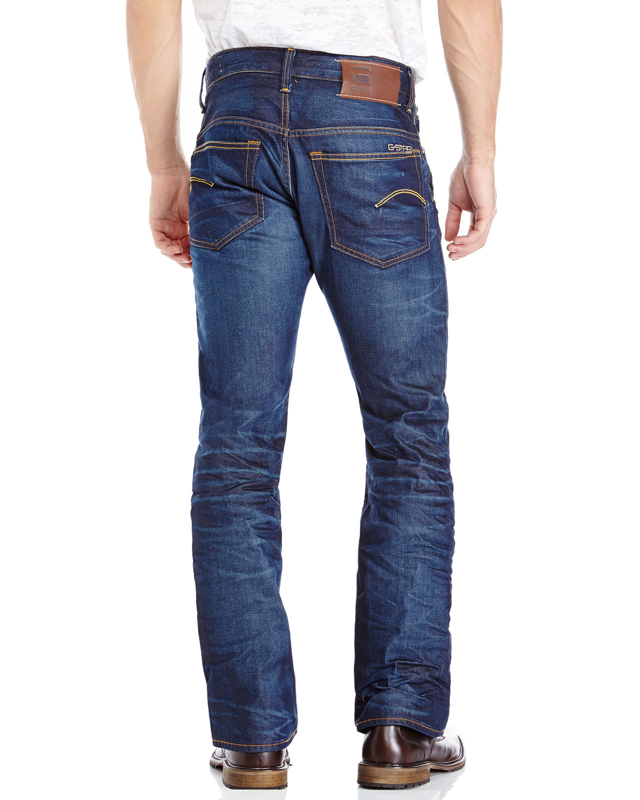 4f288a7b33c G-Star RAW Dark Wash 3301 Bootcut Jeans in Blue for Men - Lyst