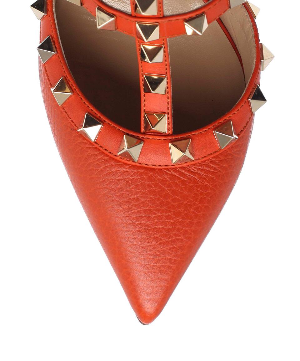 sale 2014 new Valentino Orange Leather Rockstu... buy cheap store outlet visit new 4dZk1E