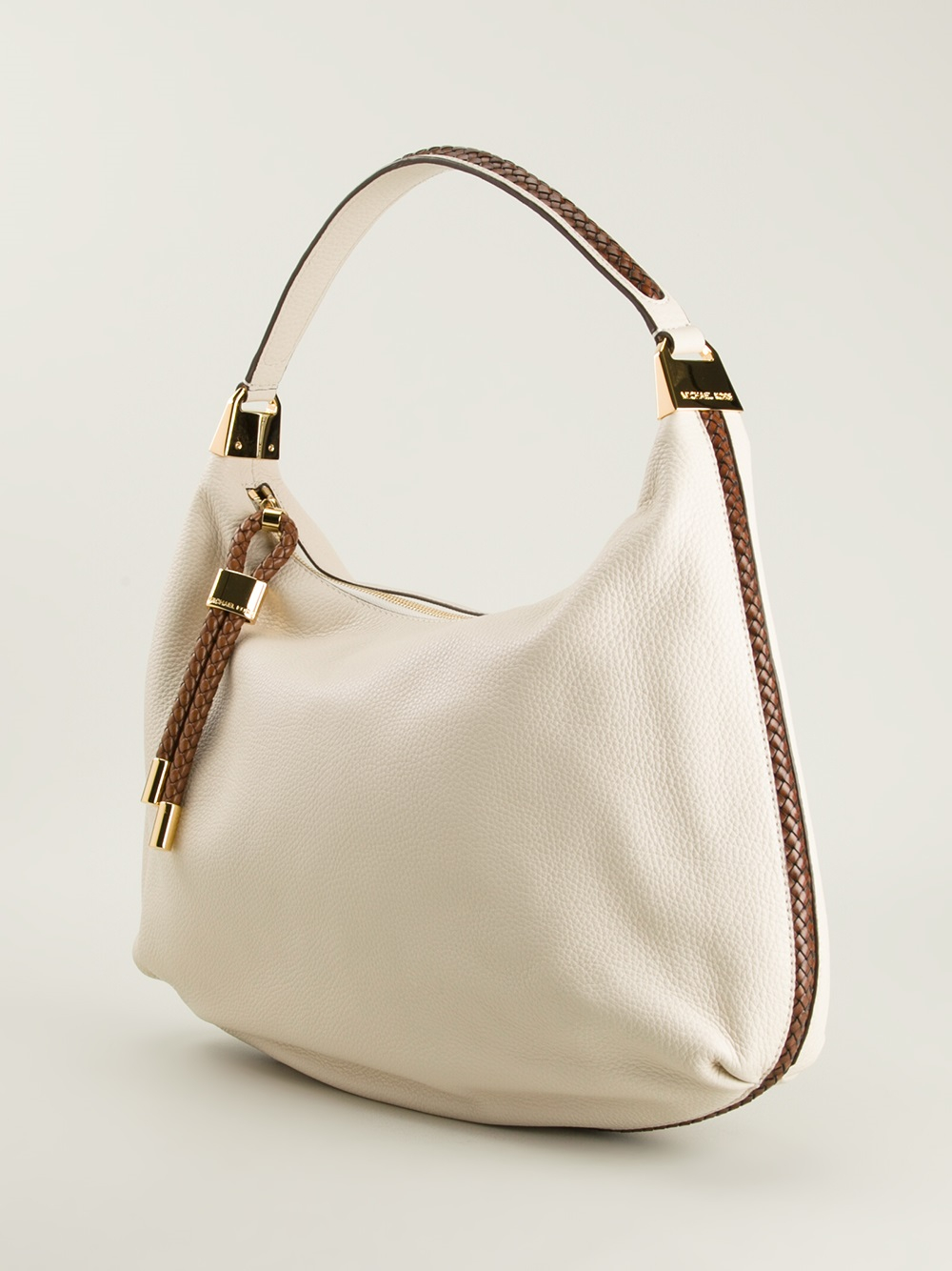 michael kors skorpios hobo shoulder bag in white lyst. Black Bedroom Furniture Sets. Home Design Ideas
